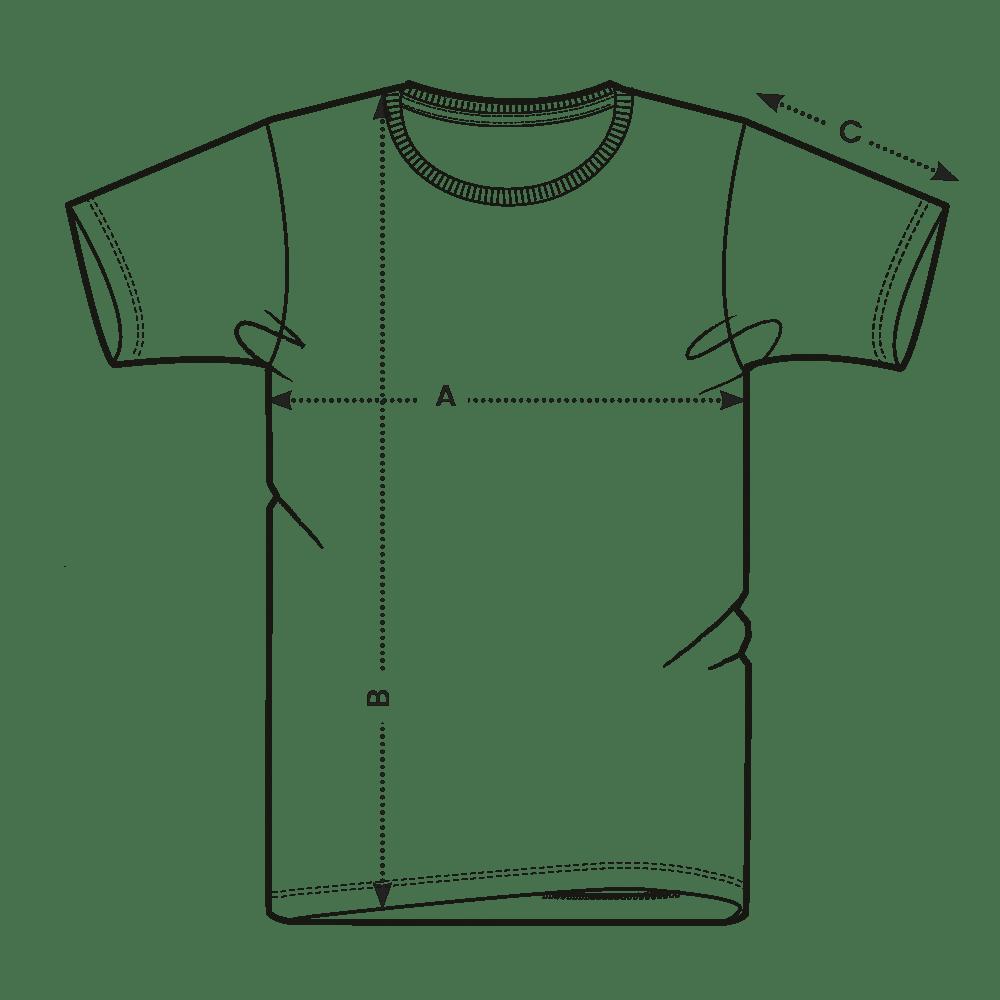 Tabuľka veľkostí - pánske tričko