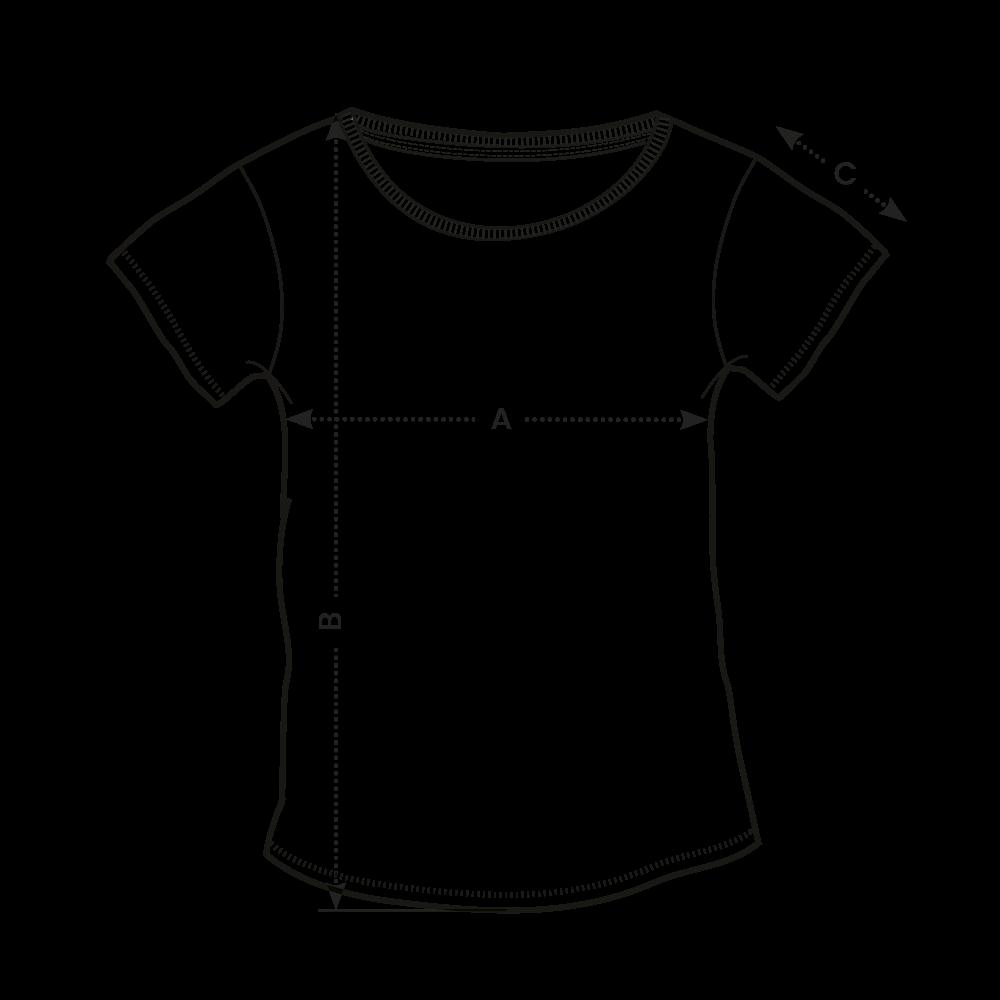 Tabuľka veľkostí - dámske tričko